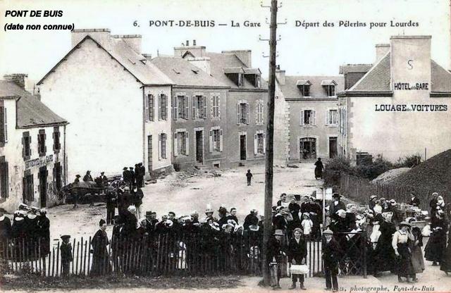 Gares de Pont de Buis, Quimerc'h CPA (1940/1950-60) Pont-d14
