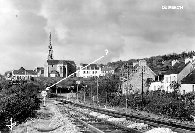 Gares de Pont de Buis, Quimerc'h CPA (1940/1950-60) Quimer10
