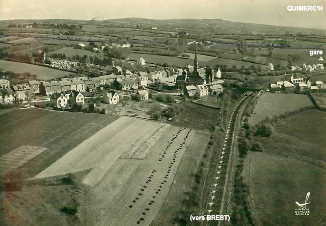 Gares de Pont de Buis, Quimerc'h CPA (1940/1950-60) Quimer11