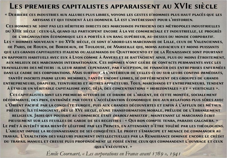 Les premiers capitalistes apparaissent au XVIe siècle Les_pr10