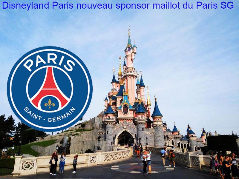 Disneyland Paris futur sponsor maillot du Paris SG Chatea10