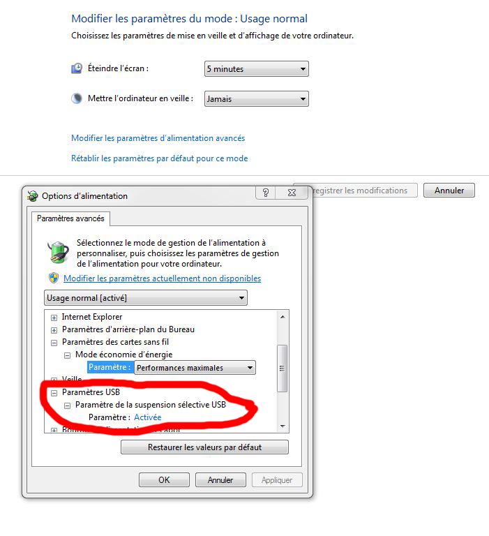 Désactiver la mise en veille des périphériques USB peut sauver vos nuits 28002610