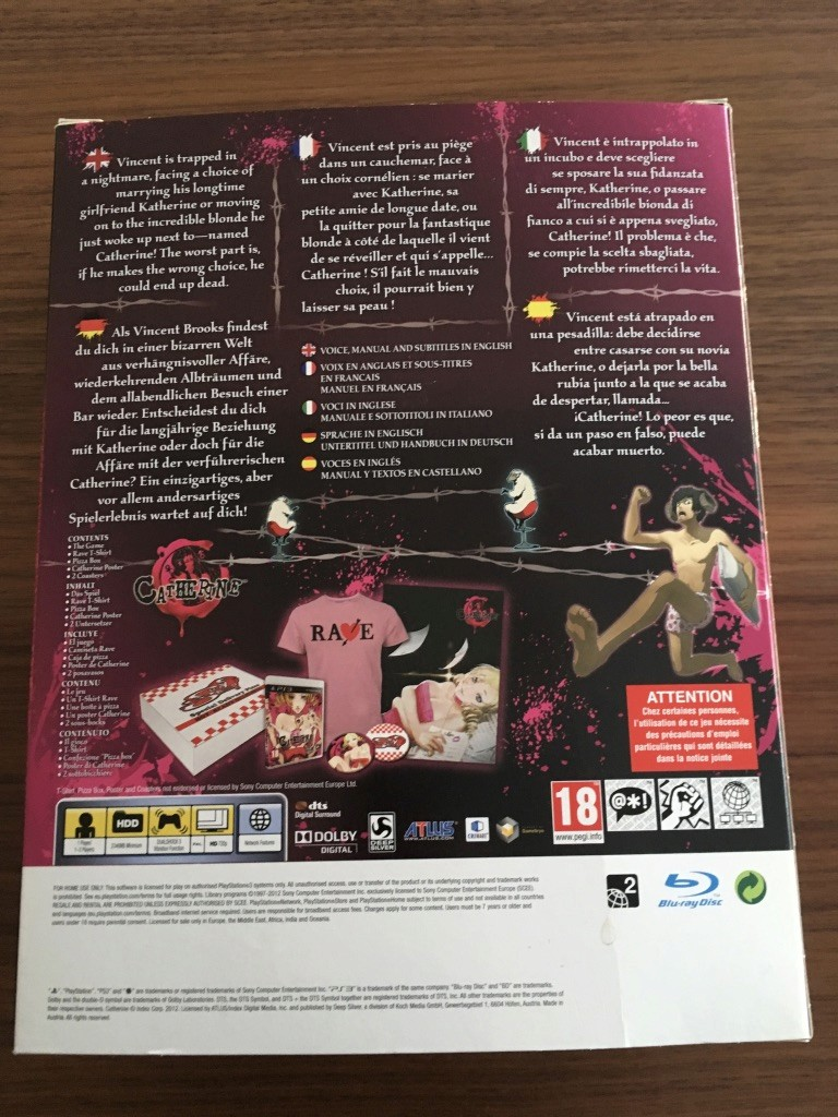 (VENDU) CATHERINE playstation 3 euro COLLECTOR Krw0yu10