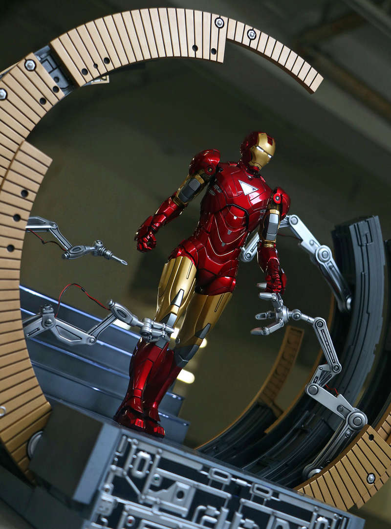 Iron Man 2 - Moving Gantry for Mark 6 - 1/9 Diecast (King Arts) 00184014