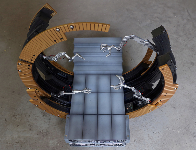 Iron Man 2 - Moving Gantry for Mark 6 - 1/9 Diecast (King Arts) 00184111