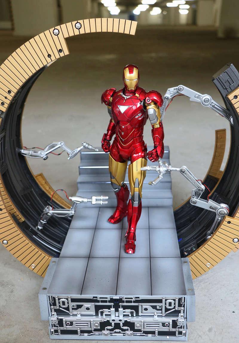 Iron Man 2 - Moving Gantry for Mark 6 - 1/9 Diecast (King Arts) 00184112