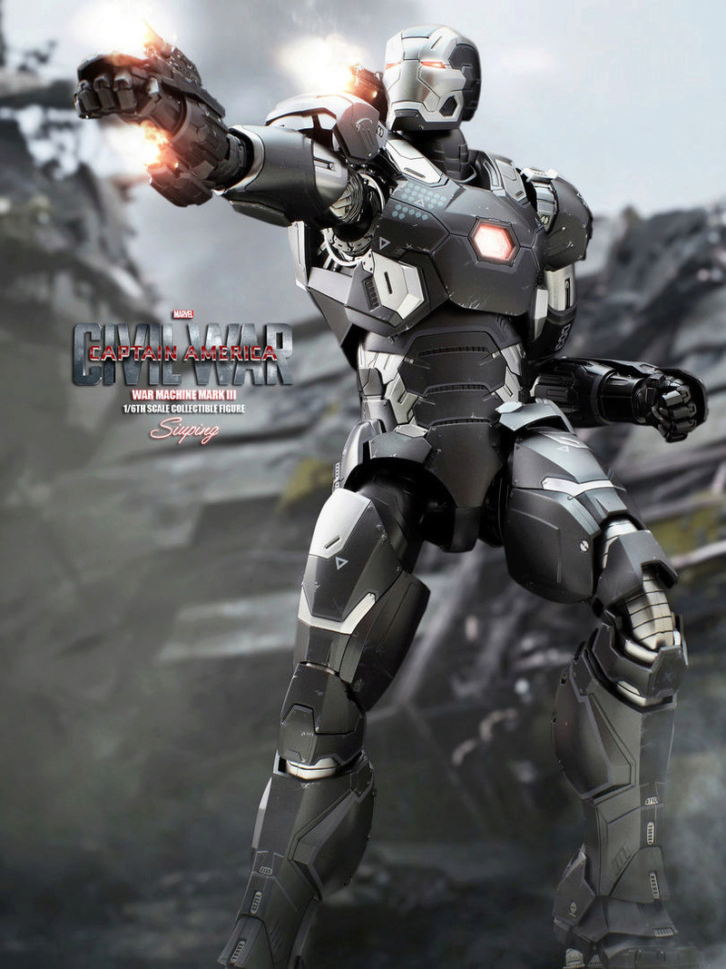 Diecast War Machine Mark III Unbox 1/6 - Captain America : Civil War (Hot Toys) 03314010
