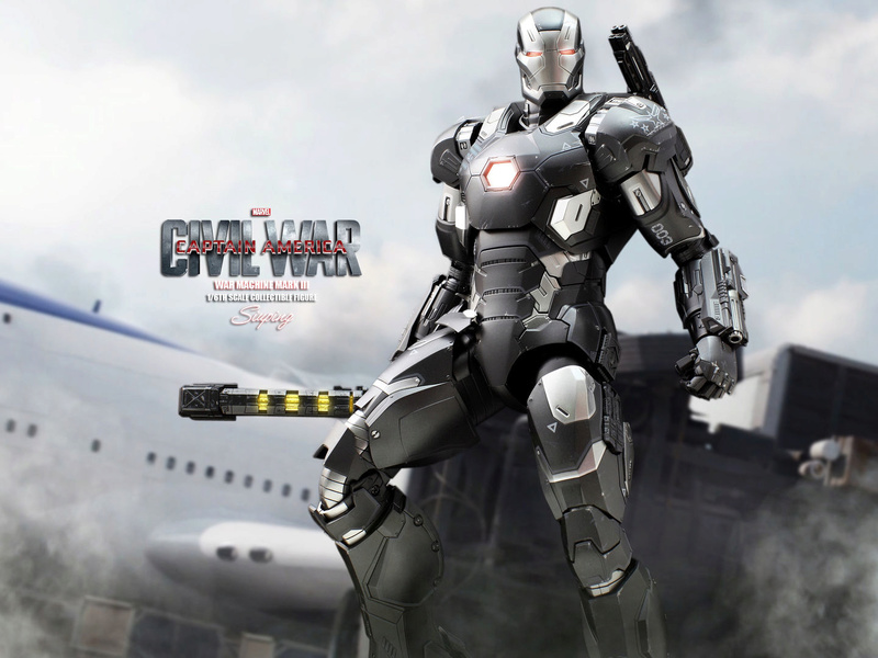 Diecast War Machine Mark III Unbox 1/6 - Captain America : Civil War (Hot Toys) 03314011