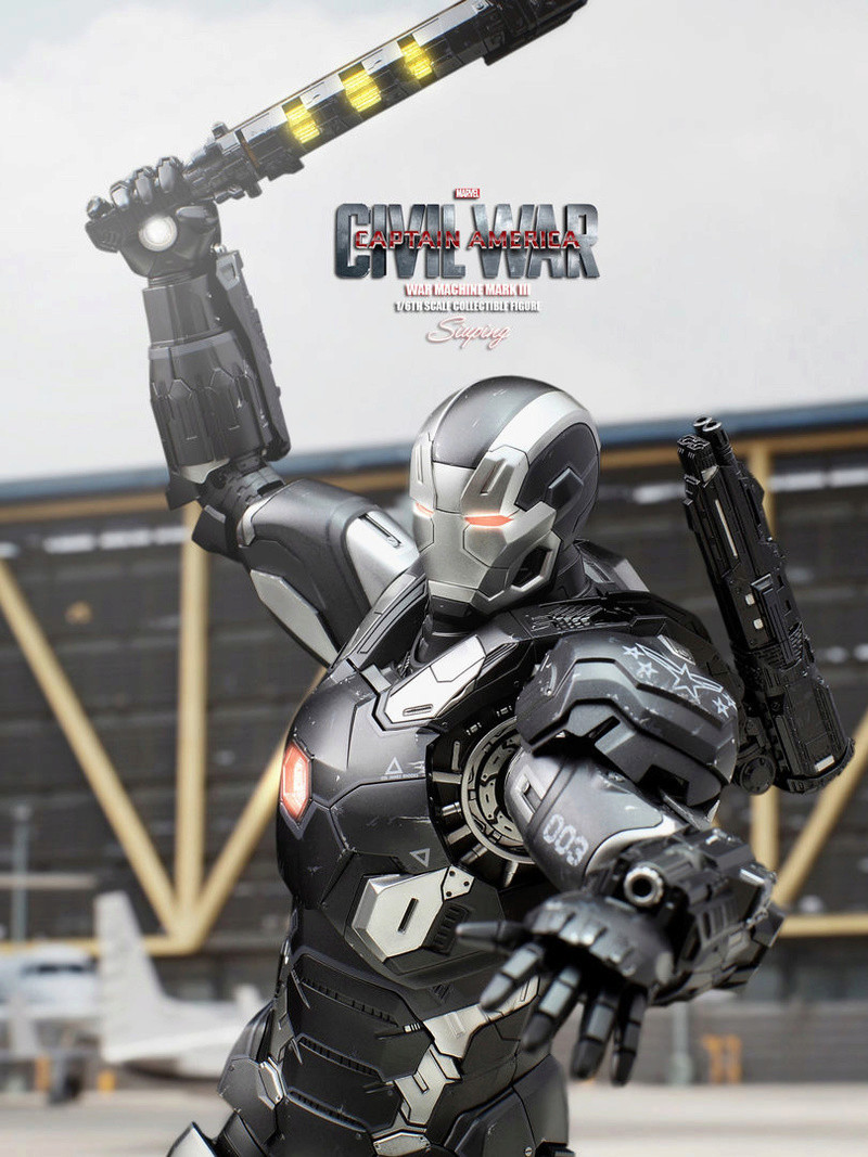 Diecast War Machine Mark III Unbox 1/6 - Captain America : Civil War (Hot Toys) 03314110