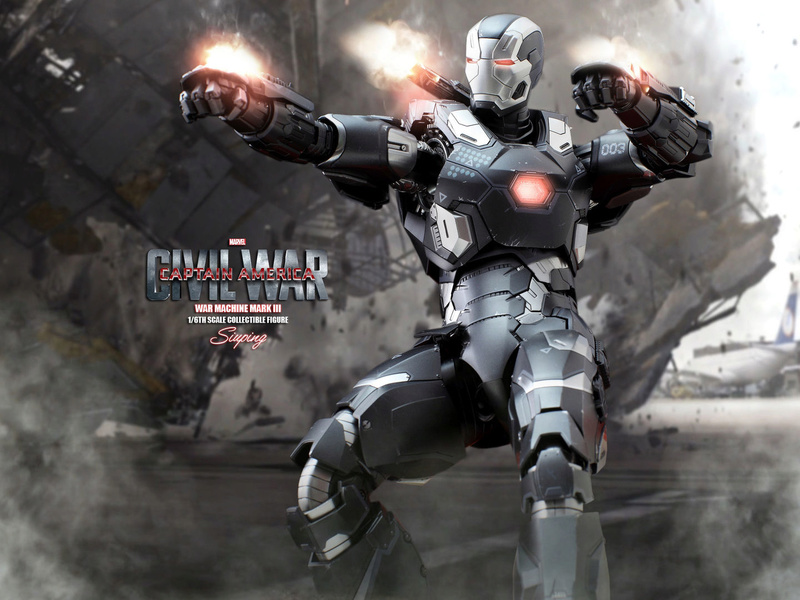 Diecast War Machine Mark III Unbox 1/6 - Captain America : Civil War (Hot Toys) 03314112