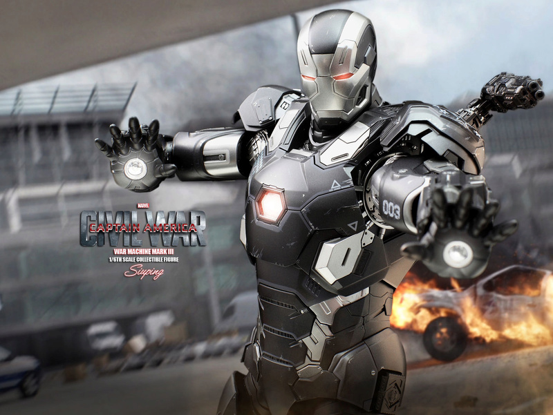 Diecast War Machine Mark III Unbox 1/6 - Captain America : Civil War (Hot Toys) 03314210