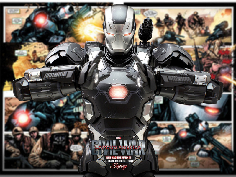 Diecast War Machine Mark III Unbox 1/6 - Captain America : Civil War (Hot Toys) 03314211