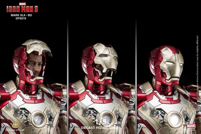 Iron Man 3 - Mark 42 - 1/9 Diecast (King Arts) 06325610