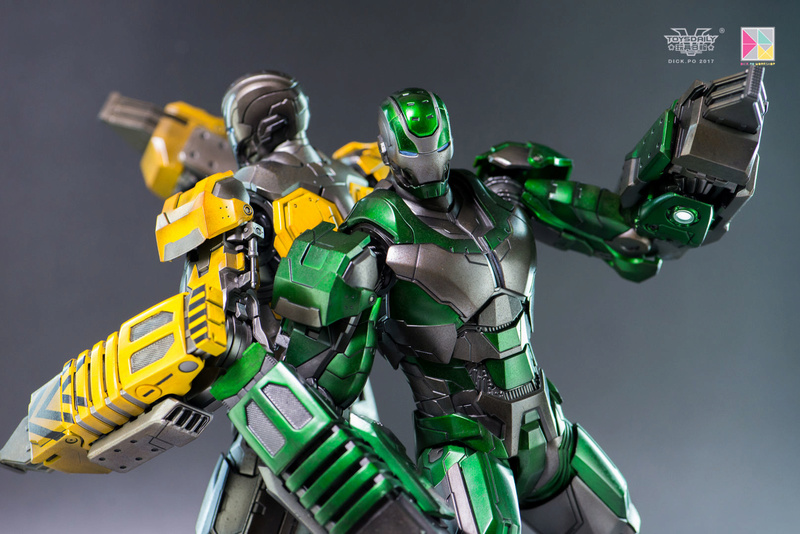Iron Man 3 - Mark 25 et Mark 26 - 1/9 Diecast (King Arts)  16005210