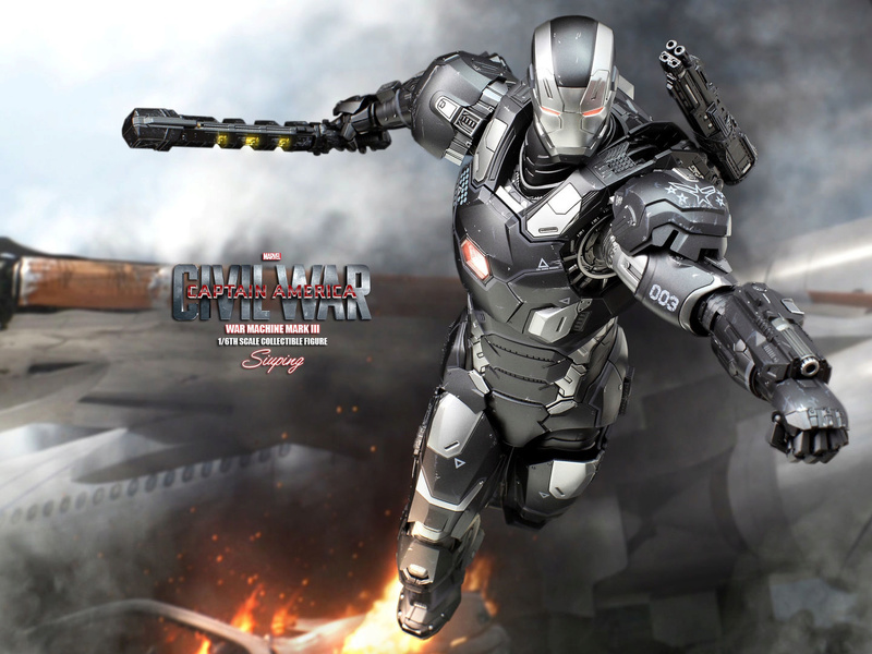 Diecast War Machine Mark III Unbox 1/6 - Captain America : Civil War (Hot Toys) 18104010