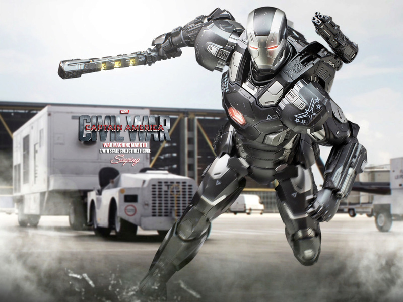 Diecast War Machine Mark III Unbox 1/6 - Captain America : Civil War (Hot Toys) 18115810