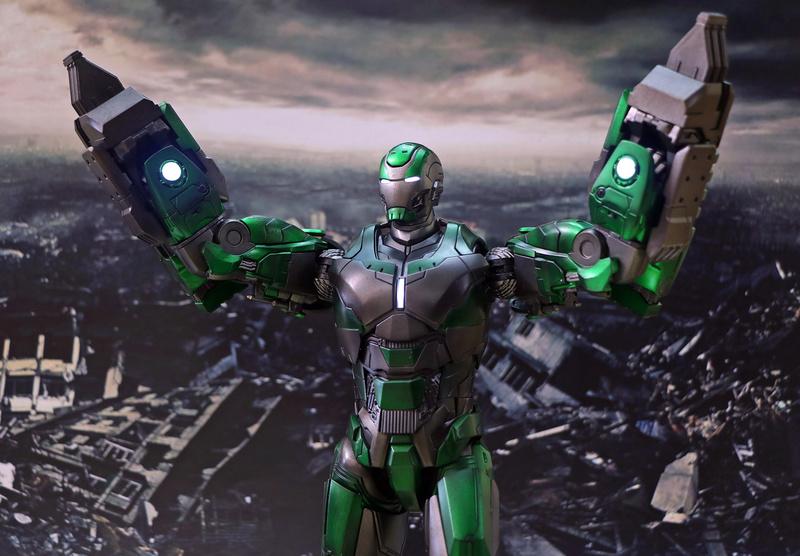 Iron Man 3 - Mark 25 et Mark 26 - 1/9 Diecast (King Arts)  20081610