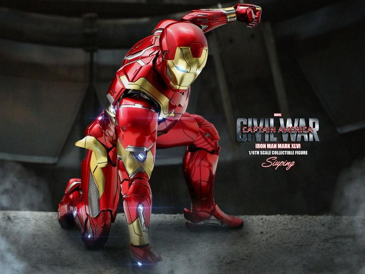 Iron Man Mark XLVI (46) 1/6 - Captain America : Civil War (Hot Toys) 22240010