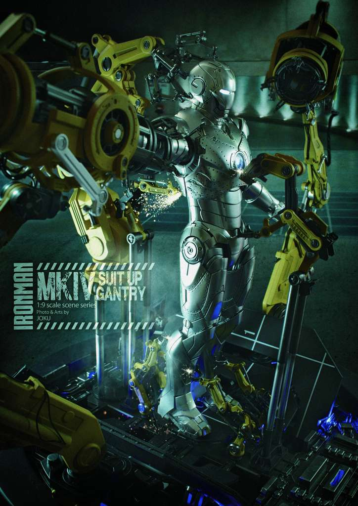 Iron Man 2  - Suitup Gantry Featuring Mark IV - 1/9 Diecast (King Arts) Mkiv_s15