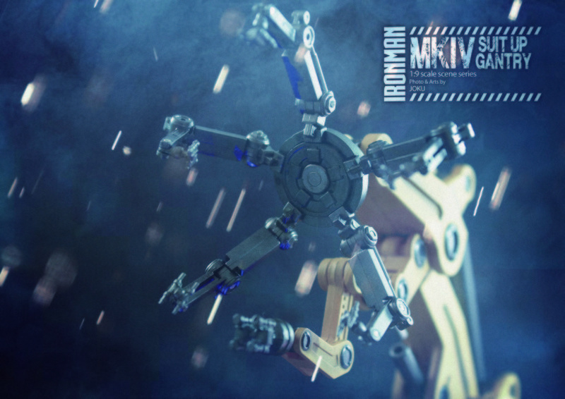Iron Man 2  - Suitup Gantry Featuring Mark IV - 1/9 Diecast (King Arts) Mkiv_s24