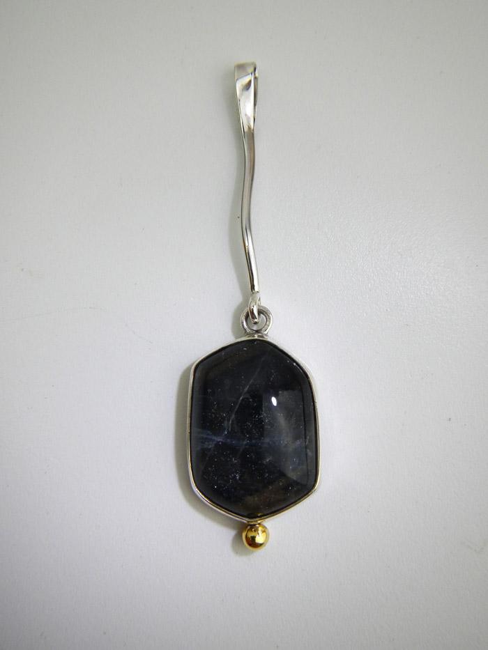 Pendentif argent +  doublet saphir/quartz Dscn9612