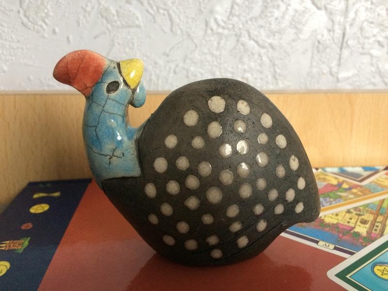 Raku bird with bird mark - South Africa Img_1416