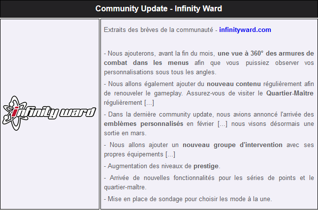 Community update 2, ce qui arrive sur IW Captur10