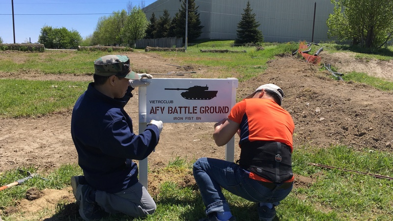 Mississauga AFV Battle Ground  Sign_110