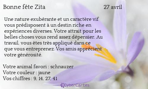 Les fêtes du jour Zita1010