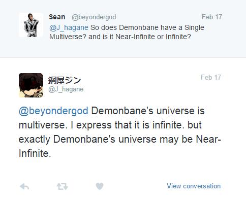 Elder God Demonbane has a Single Infinite Multiverse that has Near-Infinite Universes Favico10