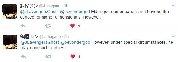 Elder God Demonbane is not Beyond Higher Dimensional levels Feathe10