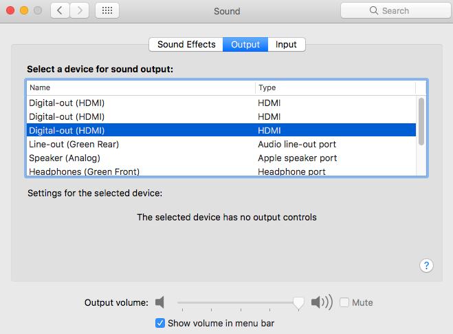 Pas de son HDMI SIERRA + Nvidia web driver Screen11