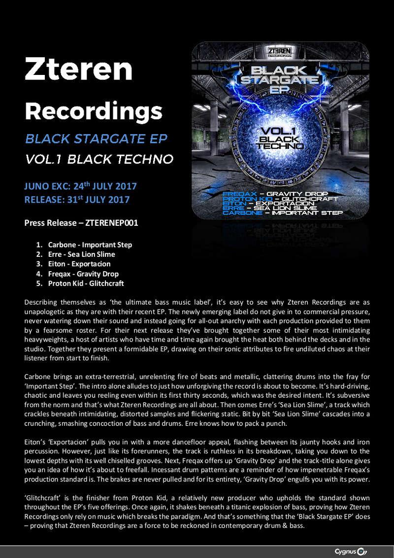 BLACK STARGATE Ep _ VOLUME 1, BLACK TECHNO Zteren10