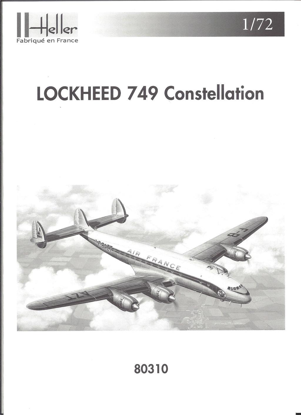 LOCKHEED 749 CONSTELLATION 1/72ème Réf 80310 Notice Hell1788