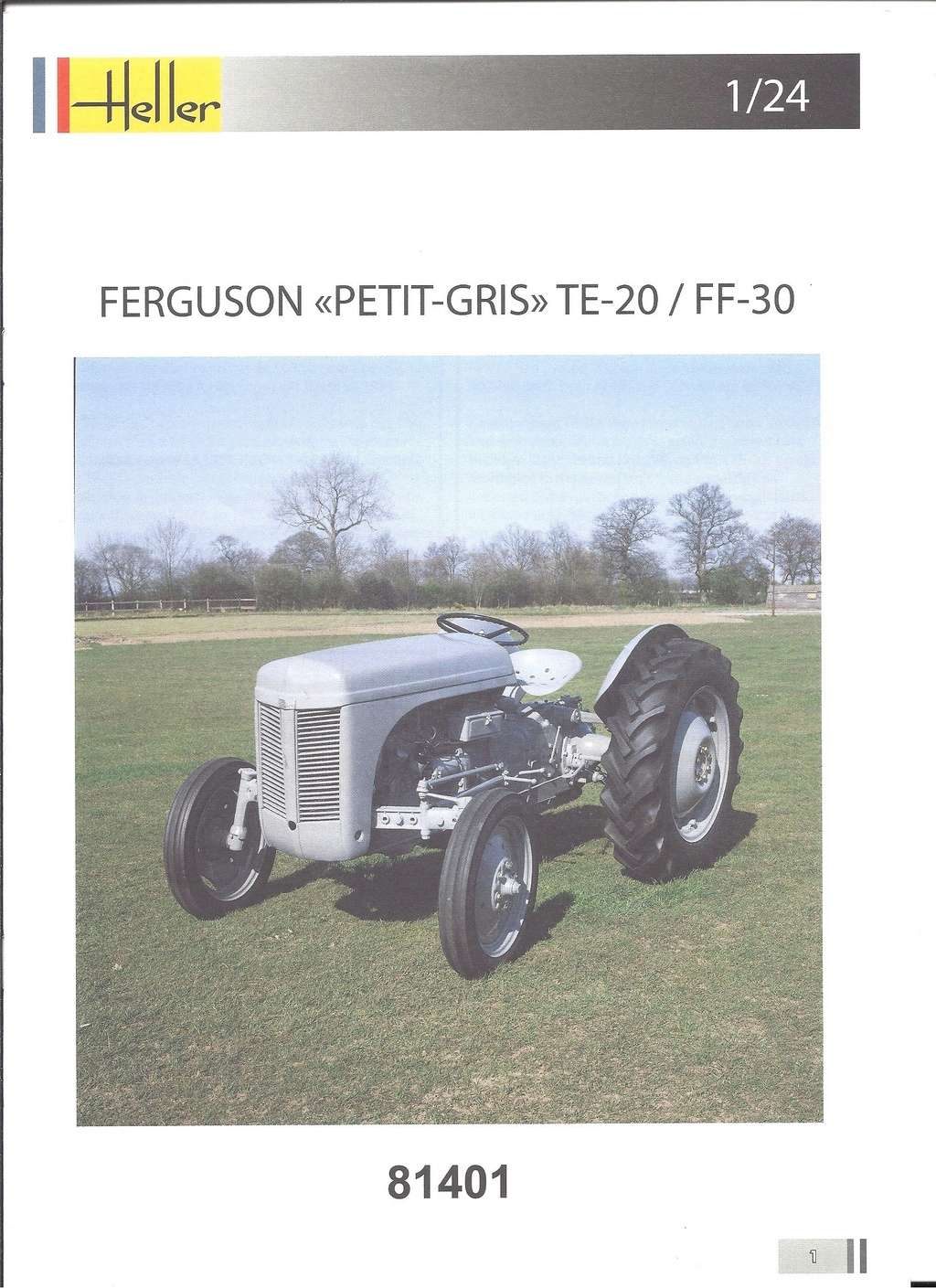 FERGUSSON TE 20 - FF 30 1/24ème  Réf 81401 Notice Hell1800