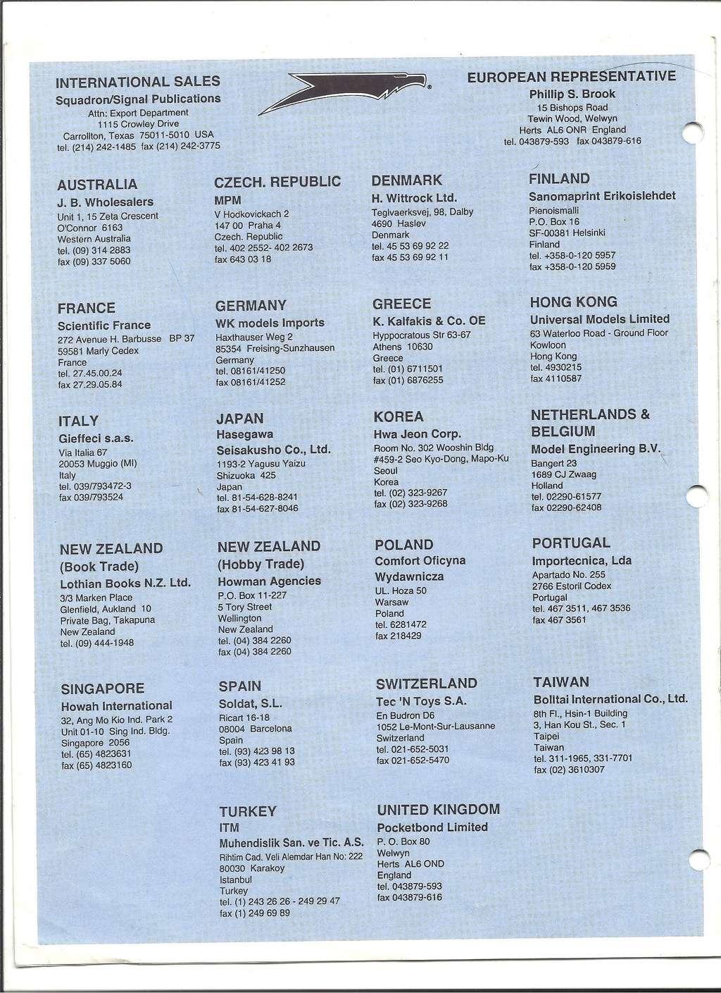 [SQUADRON /SIGNAL PUBLICATIONS 1993] Catalogue 1993 Squadr23