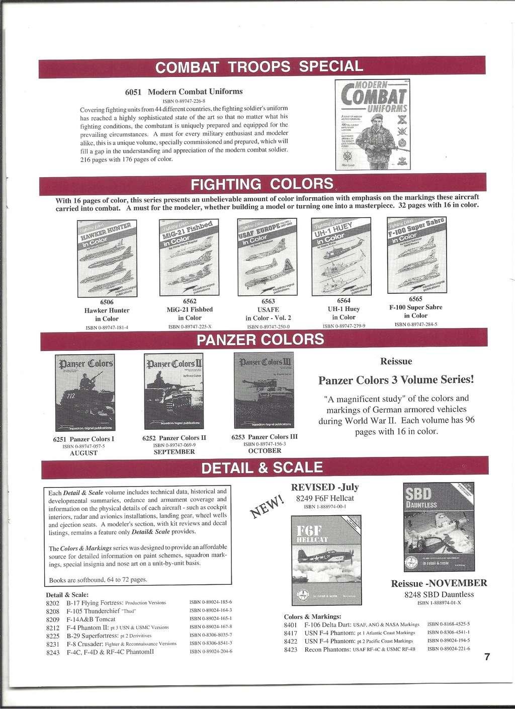 [SQUADRON/ SIGNAL PUBLICATIONS 1996] Catalogue 1996 Squadr30