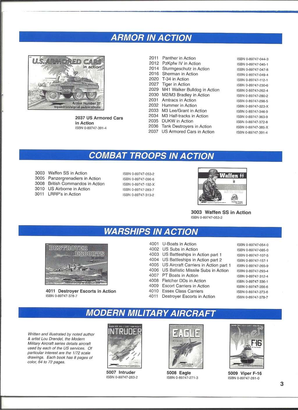 [SQUADRON/ SIGNAL PUBLICATIONS 1999] Catalogue 1999 Squadr33