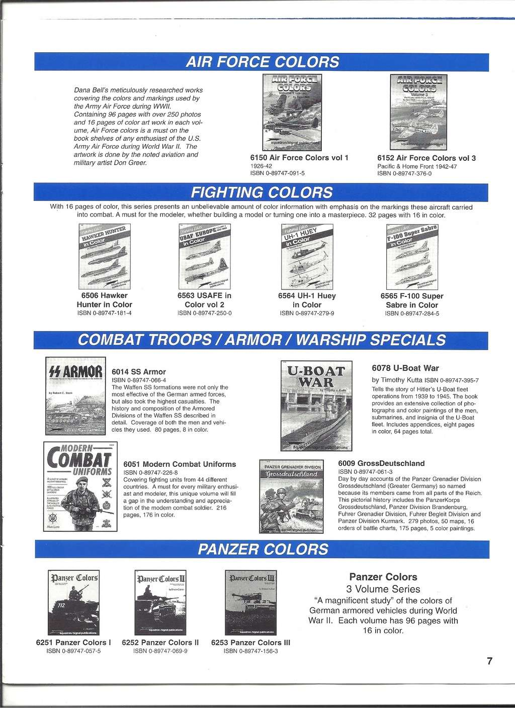 [SQUADRON/ SIGNAL PUBLICATIONS 1999] Catalogue 1999 Squadr37