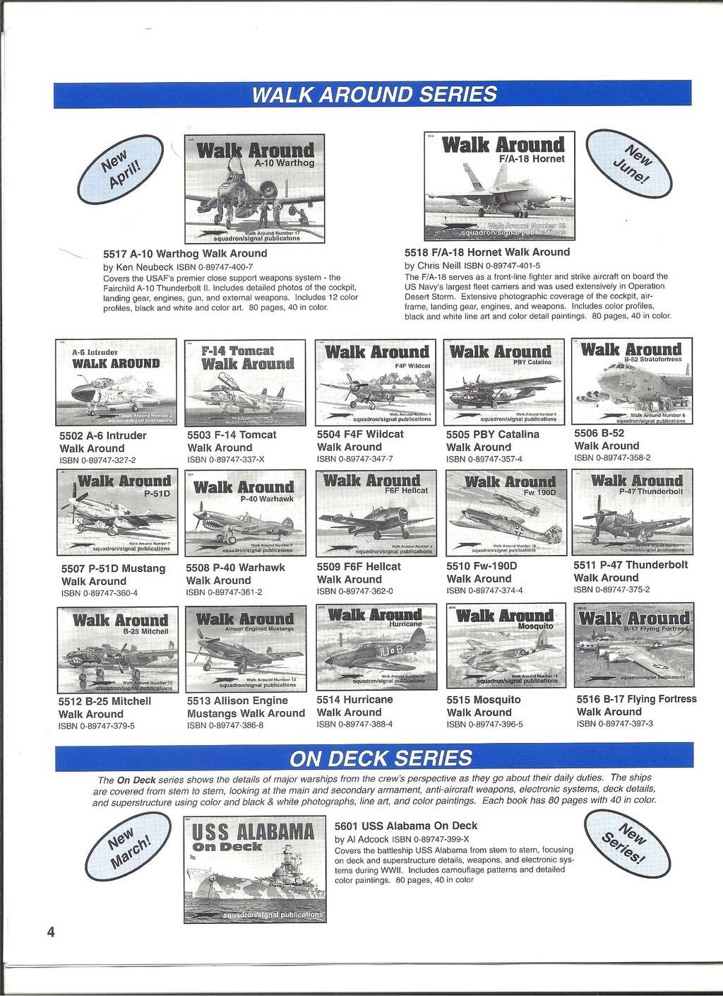 [SQUADRON/ SIGNAL PUBLICATIONS 1999] Catalogue 1999 Squadr38