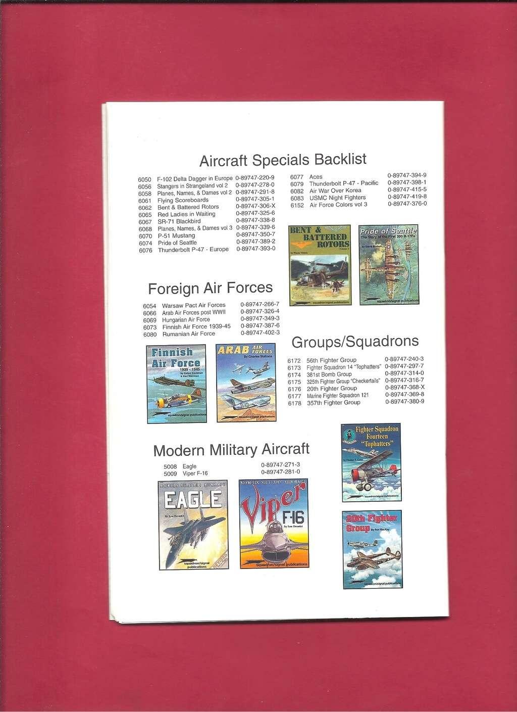 [SQUADRON /SIGNAL PUBLICATIONS 2001] Catalogue printemps 2001 Squadr49