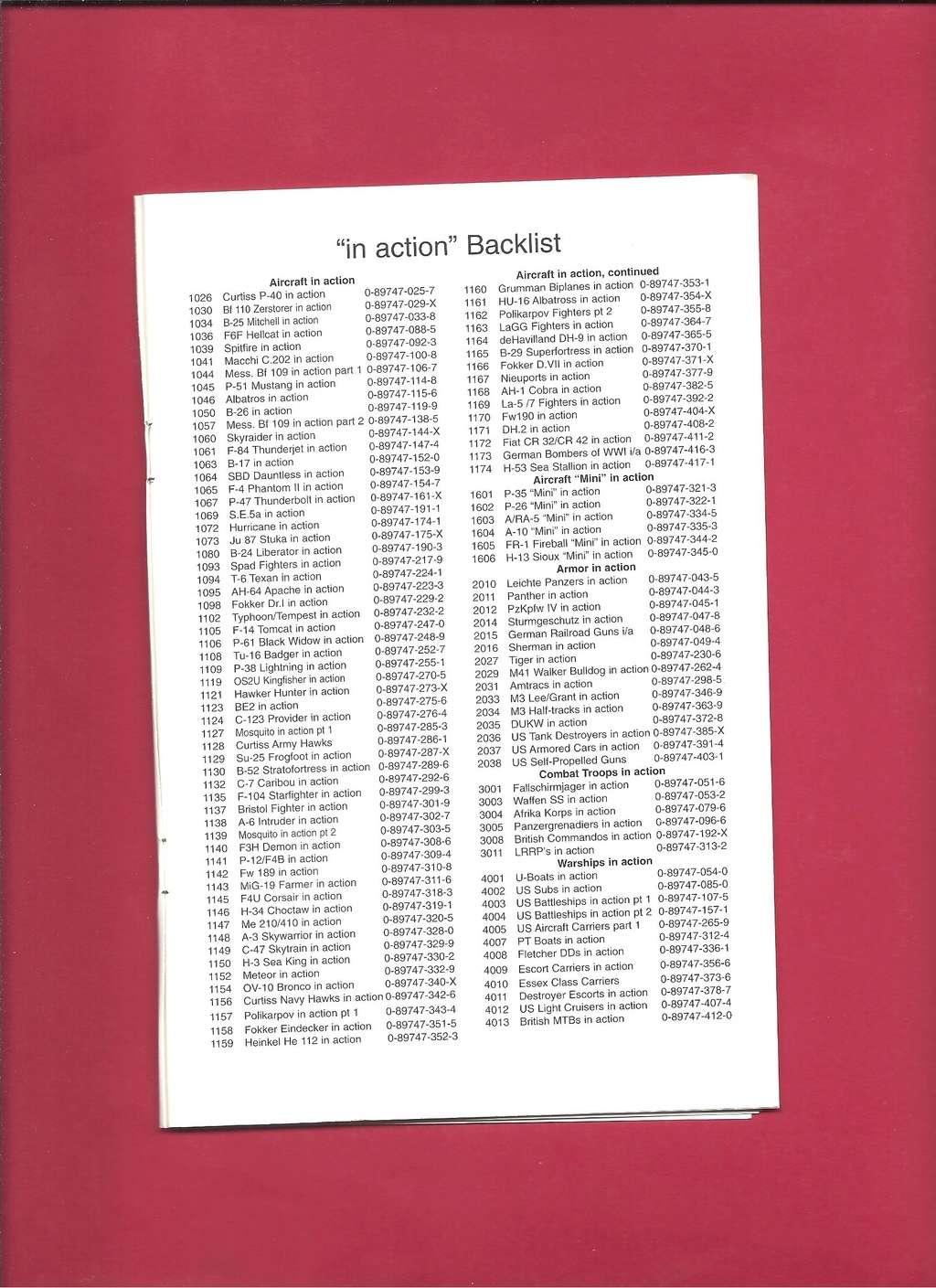 [SQUADRON /SIGNAL PUBLICATIONS 2001] Catalogue printemps 2001 Squadr52