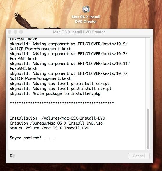Mac OS X Install DVD Créateur 156