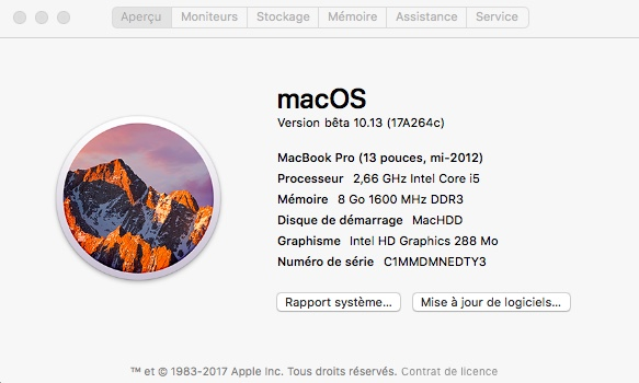 Intel HD Graphics Arrandale QE/CI YOSEMITE- EL CAPITAN-SIERRA-HIGH SIERRA 185