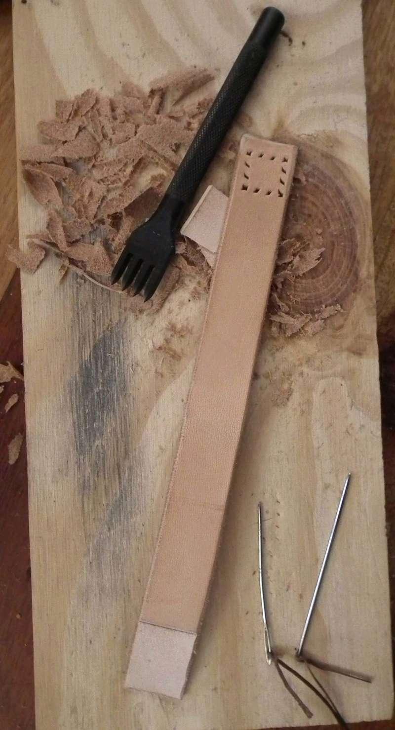 Fabrication d'un étui de couteau Sheath29