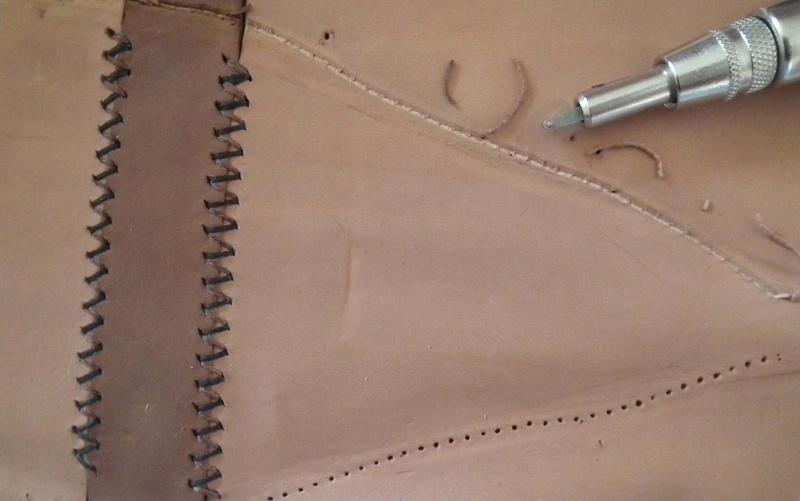 Fabrication d'un étui de couteau Sheath31
