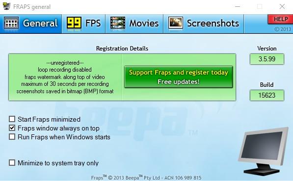 Fraps Free 3.5.99 build 15623 136