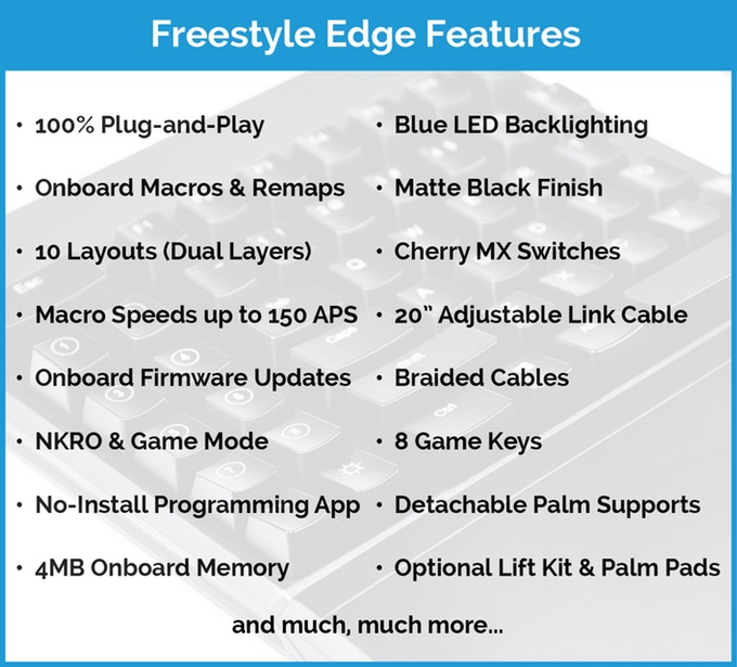 Freestyle Edge: Εργονομικό Gaming Keyboard (βίντεο)  55a83d10