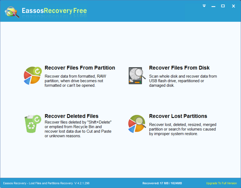 EassosRecovery Free 4.2.1.297 Imging11