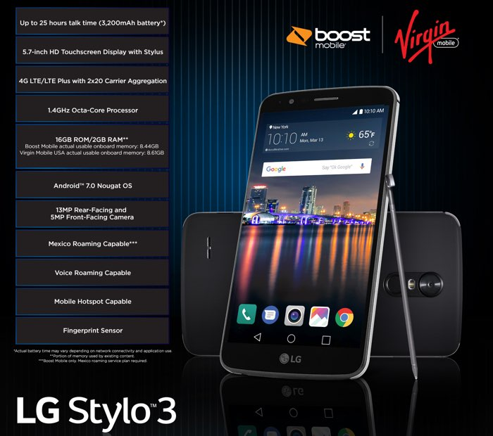Το LG Stylo 3 στο Boost Mobile και Virgin Mobile  Stylo-10
